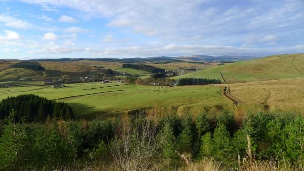 Fint her  Skottland, maks flaks med været