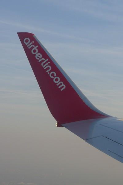 Første gang med Air Berlin, som funket helt greit.