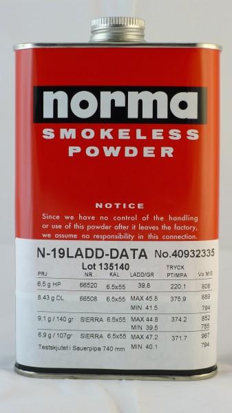 Norma N19 skytterlagskrutt for 123grs kuler