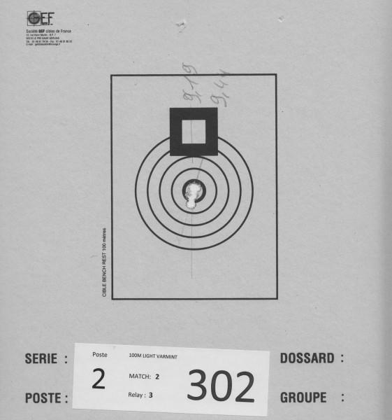 9,44mm siste skuddet som droppet. Min feil da jeg holdt skuldra for nærme. Merket at rekylen var annerledes med engang.