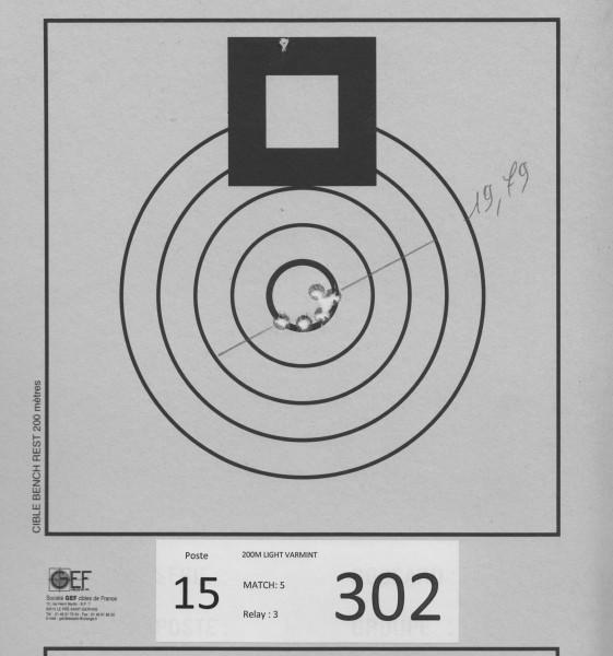 """19,79mm Begynte å få dårlig tid i serien, og gruppa ble bredere og bredere """"uansett"""" hvor mye jeg endret siktepunkt. Rett å slett for lite trening for min egen del"""