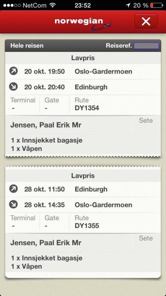 Har bestandig flydd Norwegian til EDI, aldri hatt noe tull.