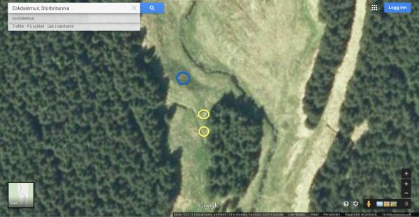 """Nærmer meg full oversikt over skogen i midten og av erfaring tar jeg rifla av skuldra, opp med Butler Creek'n og går nærmest i """"ferdig"""" stilling...."""