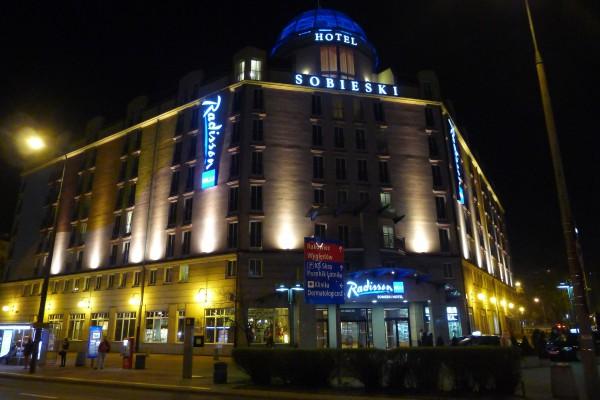 Radisson Blu Sobieski om natten