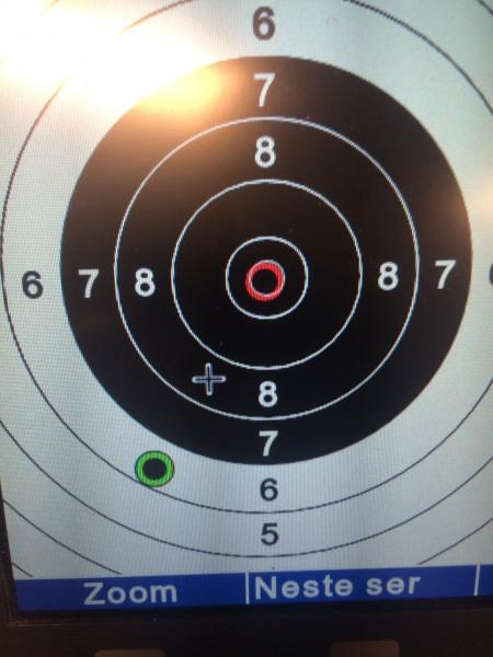 Men, når man starter med en kjempenapp i 6 og neste skudd er en perfekt 10.9. Da har man et stykke igjen