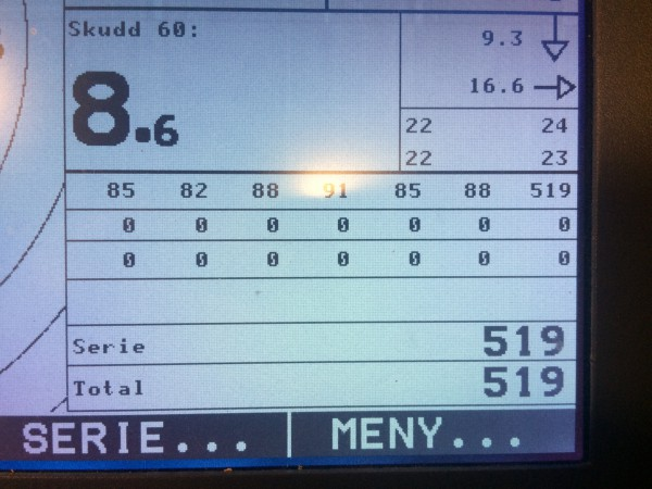 Hvor jeg endte tilslutt på 519 poeng