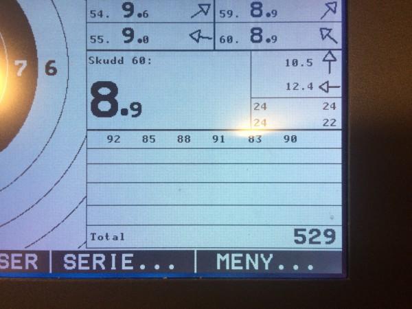 Og jeg endte på 529 serie. Som er greit nok. Mitt første mål er å blir stabil over 540. Har litt igjen