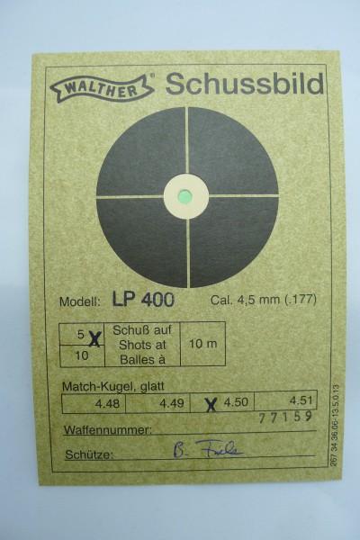 Denne fulgte med min LP400 som viste at det var kule med dia:4.50mm som gikk best