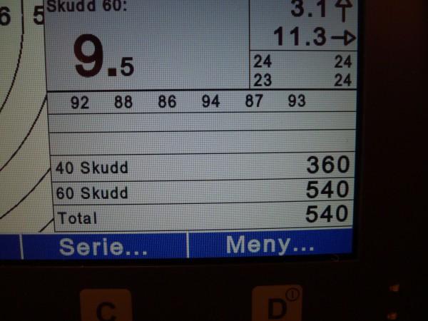 540, som er mitt første mål å holde meg jevnt på. Har et stykke igjen dit for å bli stabil