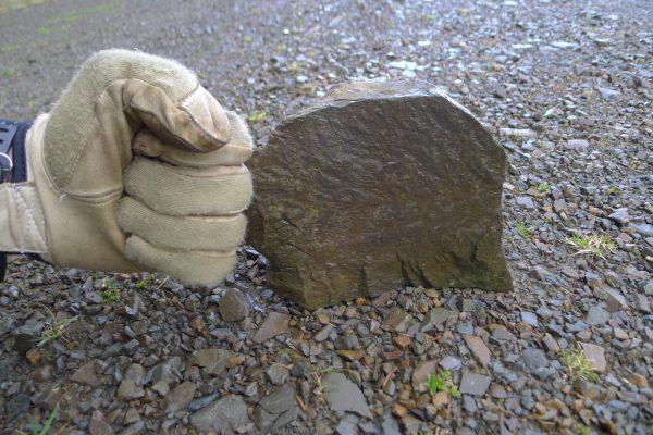 Lørdag kveld var igjen i Aberlosk, hvor det var helt dødt...? Tok derfor et treningskudd på en stein igjen 10x10cm